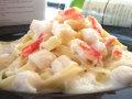 生パスタ ずわい蟹と帆立貝のクリームソース