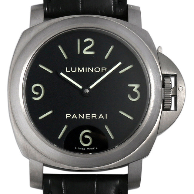 パネライ ルミノール ベース チタニオ L番 PAM00176 中古 メンズ