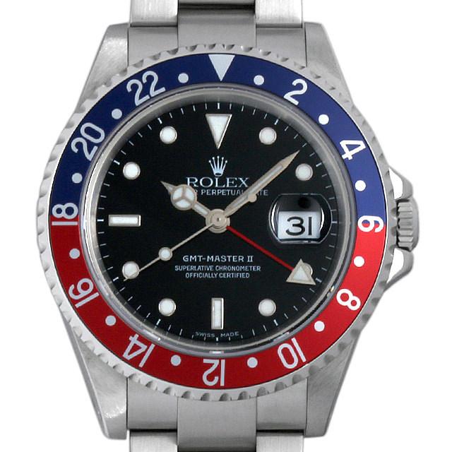 ロレックス GMTマスターII 赤青ベゼル Y番 16710 中古 メンズ
