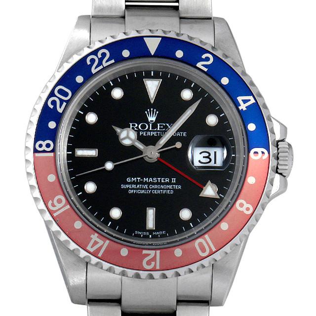 ロレックス GMTマスターII 赤青ベゼル P番 16710