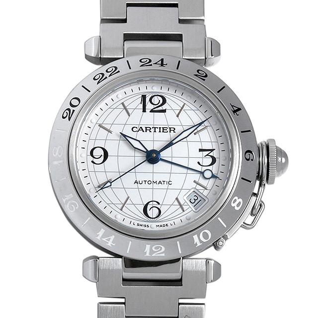 カルティエ パシャC GMT メリディアン W31078M7