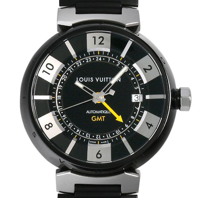 ルイヴィトン タンブール イン ブラック GMT Q113K 中古 メンズ