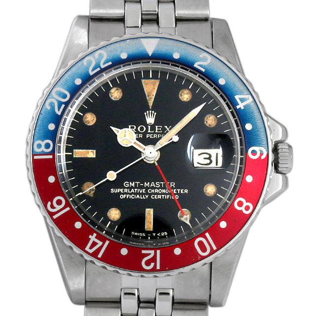 ロレックス GMTマスター 赤青ベゼル 14番 1675 ミラーダイアル アンティーク メンズ