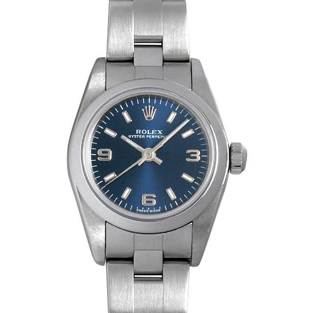ロレックス オイスターパーペチュアル A番 76080 ブルー/369