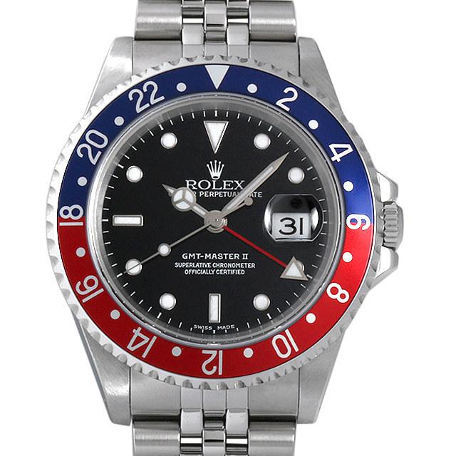 ロレックス GMTマスターII 赤青ベゼル Y番 16710