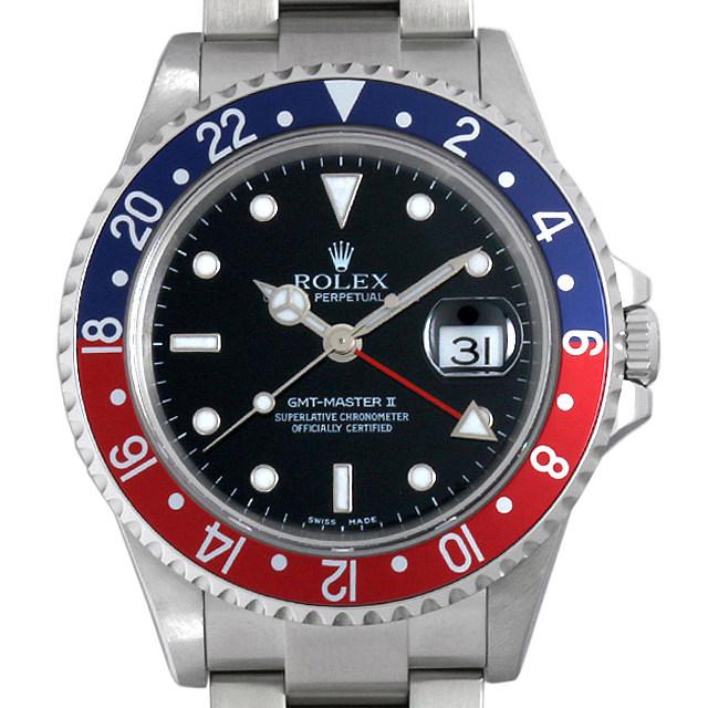 ロレックス GMTマスターII 赤青ベゼル F番 16710 中古 メンズ