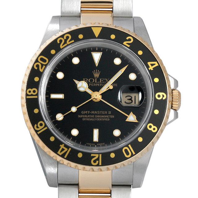 ロレックス GMTマスターII P番 16713 ブラック