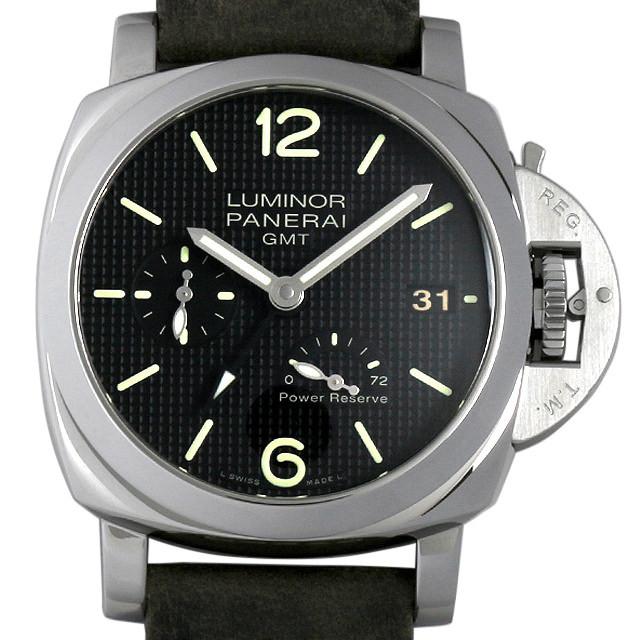 パネライ ルミノール1950 3DAYS GMT パワーリザーブ オートマチック アッチャイオ Q番 PAM00537 中古 メンズ