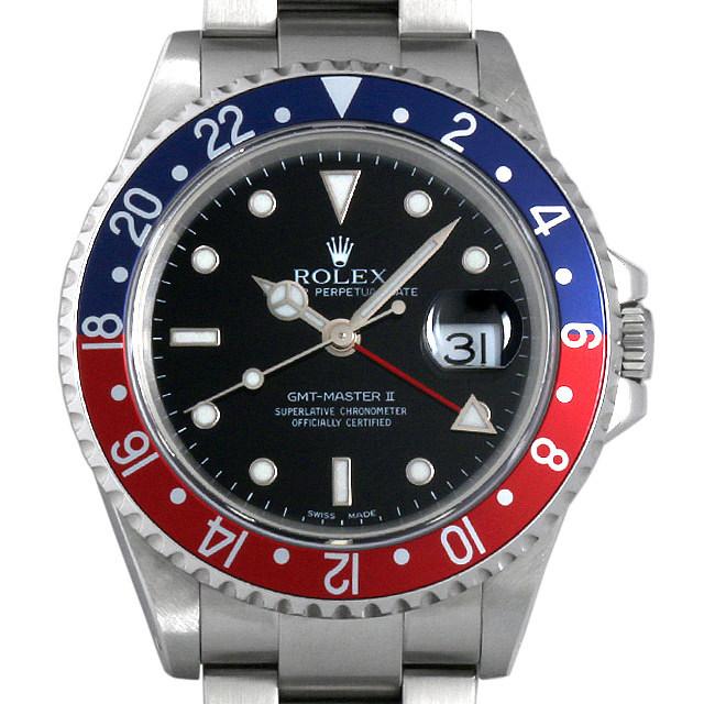 ロレックス GMTマスターII 赤青ベゼル P番 16710 中古 メンズ
