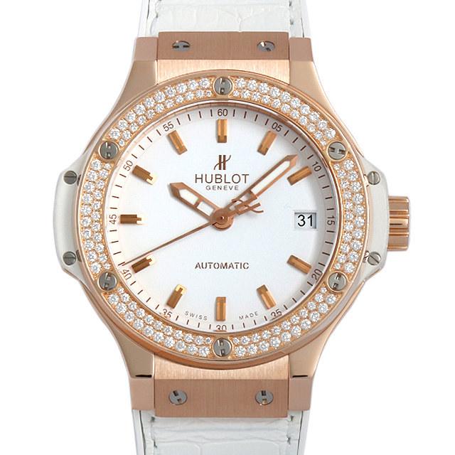 ウブロ ビッグバン ゴールドホワイトダイヤモンド 365.PE.2180.LR.1104 中古 ボーイズ(ユニセックス)