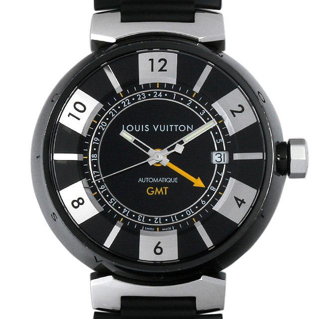 ルイヴィトン タンブール インブラック GMT Q113K 中古 メンズ