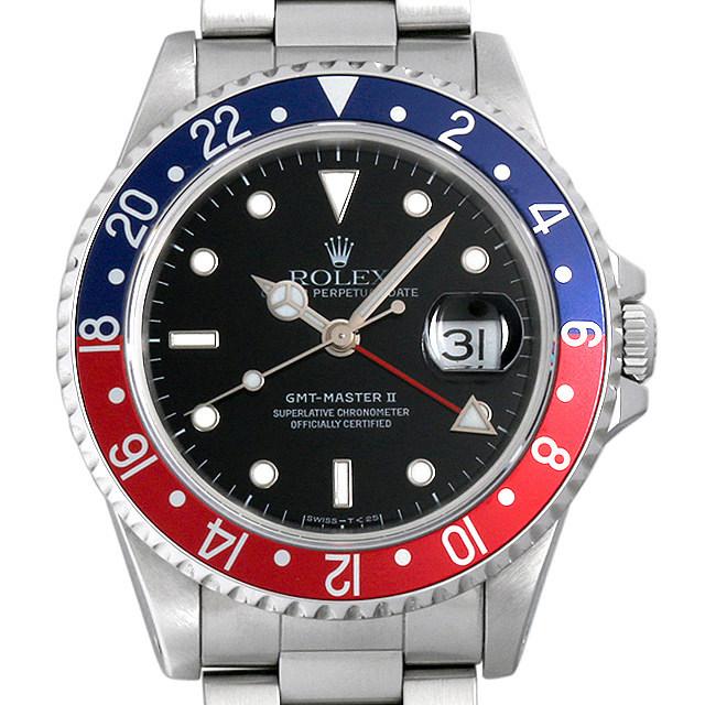 ロレックス GMTマスターII 赤青ベゼル X番 16710 中古 メンズ