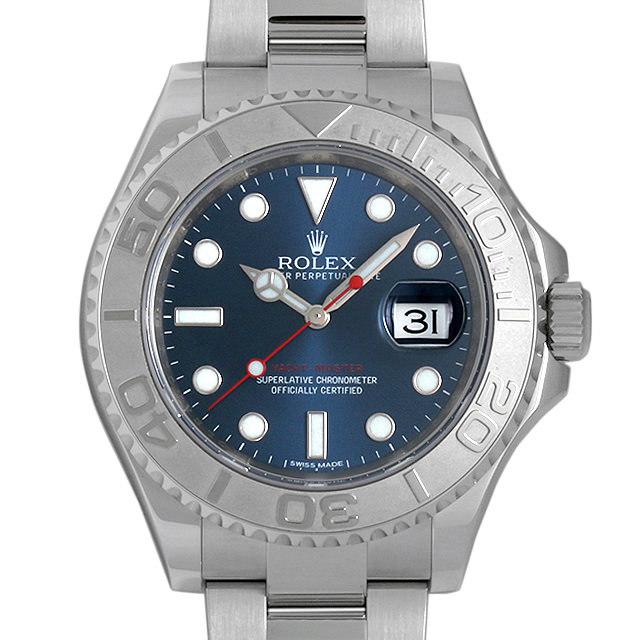 ロレックス ヨットマスター ロレジウム ブルー 116622 中古 メンズ