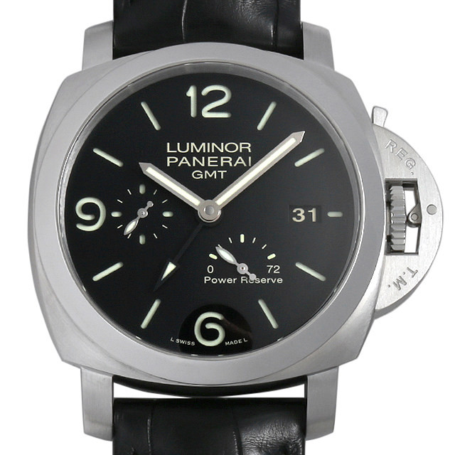 パネライ ルミノール1950 3DAYS GMT N番 PAM00321 中古 メンズ