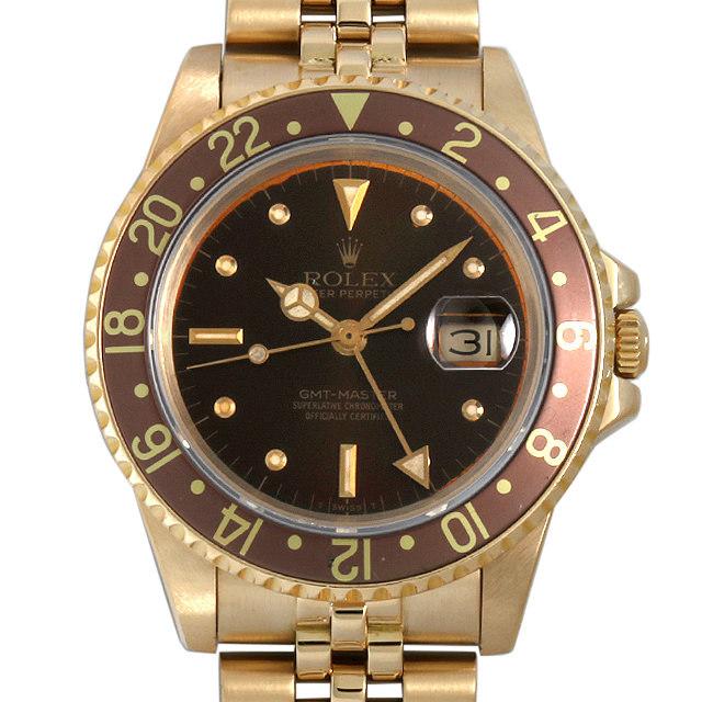 ロレックス GMTマスター 83番 16758 ブラウン フジツボダイアル 16758 中古 メンズ