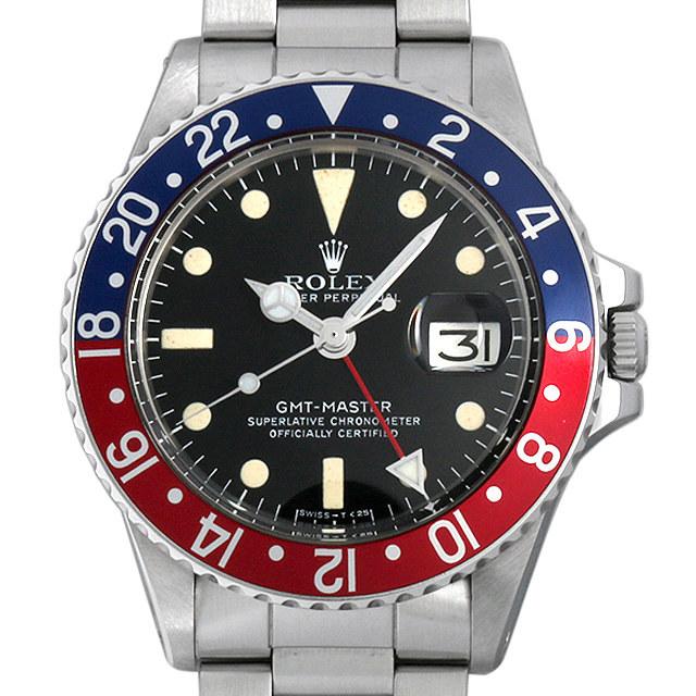 ロレックス GMTマスター 赤青ベゼル 55番 1675 アンティーク メンズ
