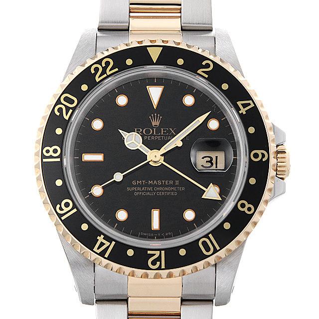 ロレックス GMTマスターII 16713 ブラック X番