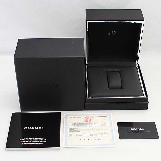J12 白セラミック クロノグラフ 9Pダイヤ H2009 サブ画像4