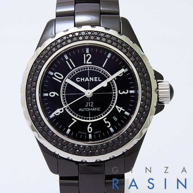J12 黒セラミック ブラックダイヤ H0942 メイン画像