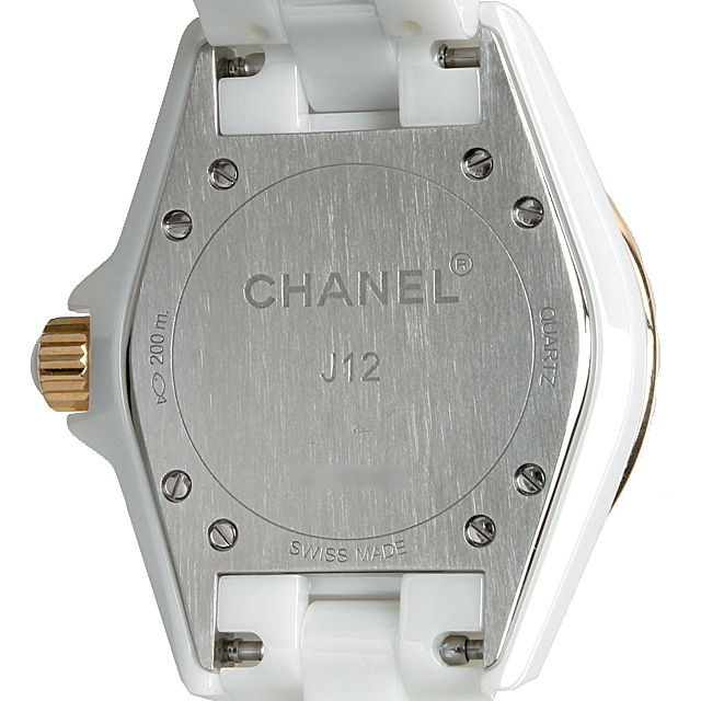 J12 白セラミック 11Pダイヤ ピンクゴールドベセル H2181 サブ画像2