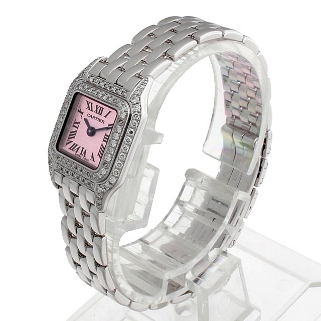 ミニパンテール 2重ダイヤ ピンクガラス WF3257F3 サブ画像1