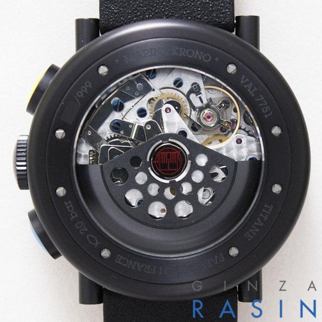 アランシルベスタイン(ALAN SILBERSTEIN) ブラックマリンクロノ PVD MK402B 時計銀座羅針RASIN