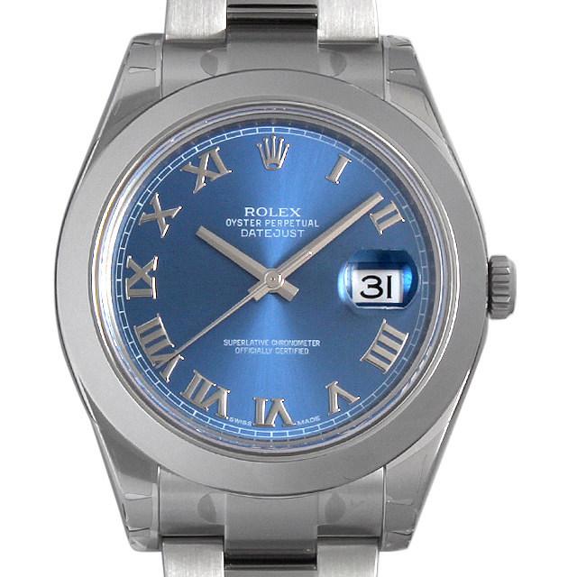 ロレックス デイトジャストII 116300 ブルー/ローマ 新品 メンズ