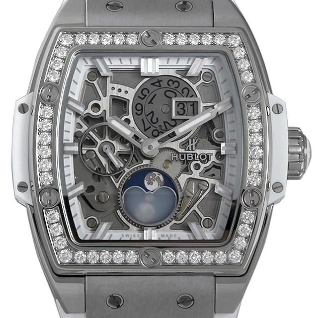 スピリット オブ ビッグバン ムーンフェイズ チタニウム ホワイト ダイヤモンド 647.NE.2070.RW.1204 メイン画像