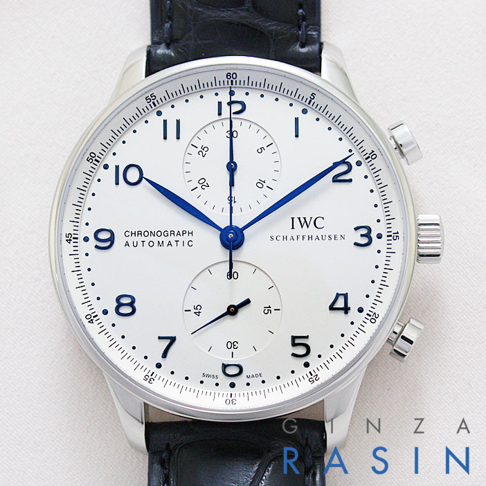 【新品】IWC ポルトギーゼ・クロノグラフ 青針 IW3714-17 (IW371417) メンズ