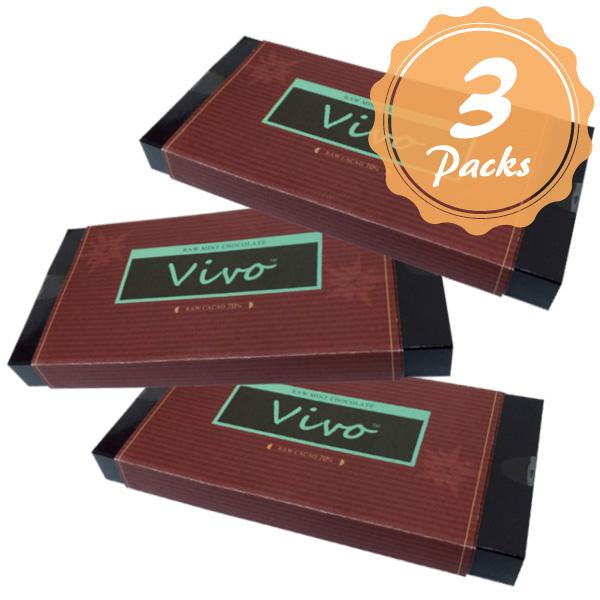 【3個セット】ロハスオリジナル ローチョコレート『Vivo』ミント
