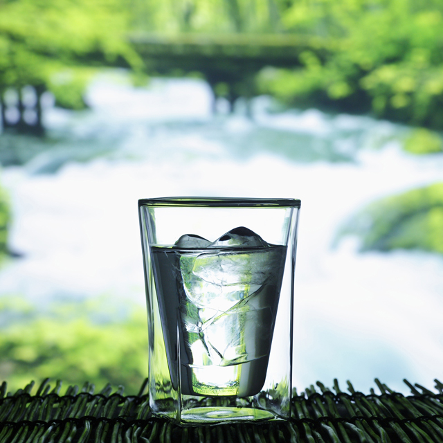 Double wall glass rayes 5 water green 002