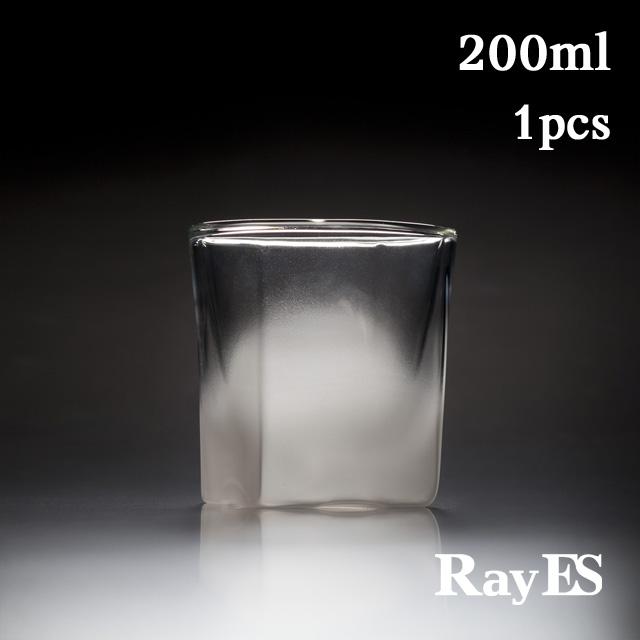 フロスト 雲 サンドブラスト 加工 rayes レイエスダブルウォールグラス