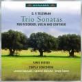 テレマン/リコーダーとヴァイオリン、通奏低音のためのトリオ・ソナタ集