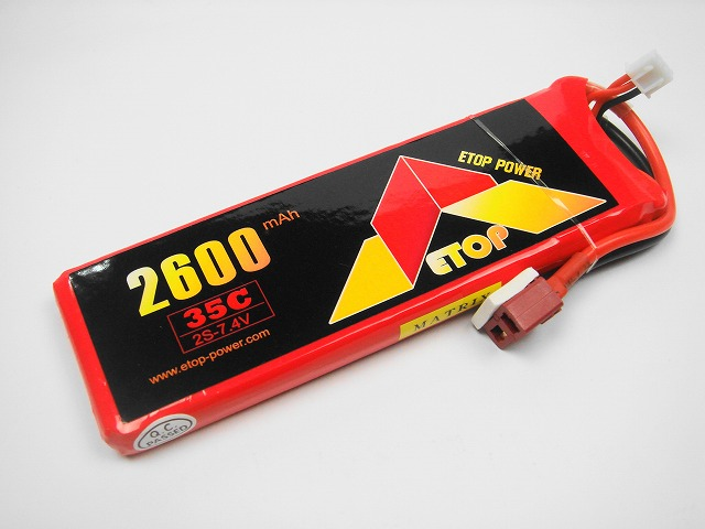 Lipo 2S-2600mAh(35C) E−Top Power