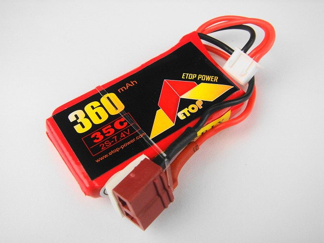 Lipo 2S-360mAh(35C) -(T型)E−Top Power