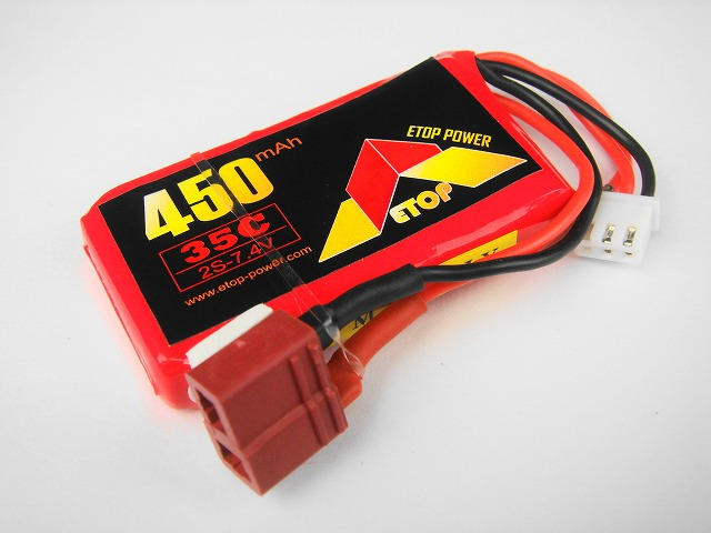 Lipo 2S-450mAh(35C)-(T型) E−Top Power