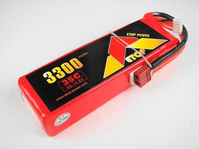 Lipo 4Sー3300mAh(35C) E−Top Power