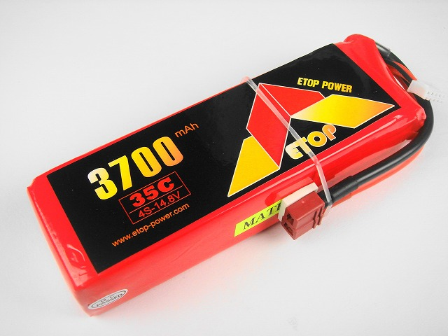 Lipo 4Sー3700mAh(35C) E−Top Power