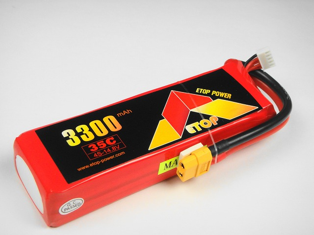 Lipo 4Sー3300mAh(35C) XT60付き,E−Top Power