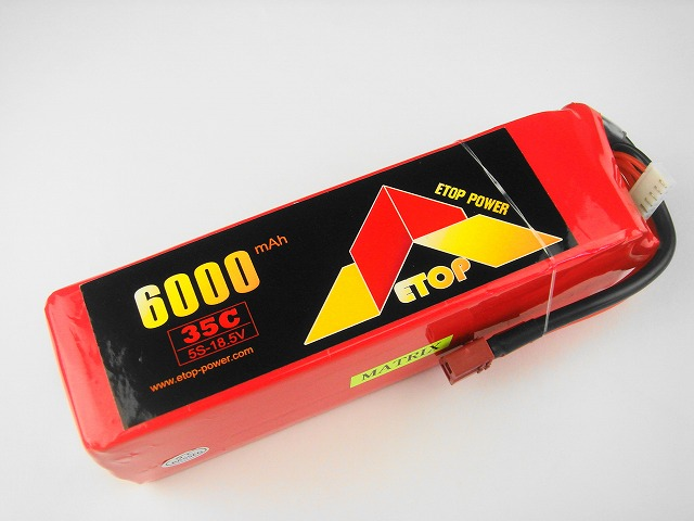 Lipo 5Sー6000mAh(35C) E−Top Power