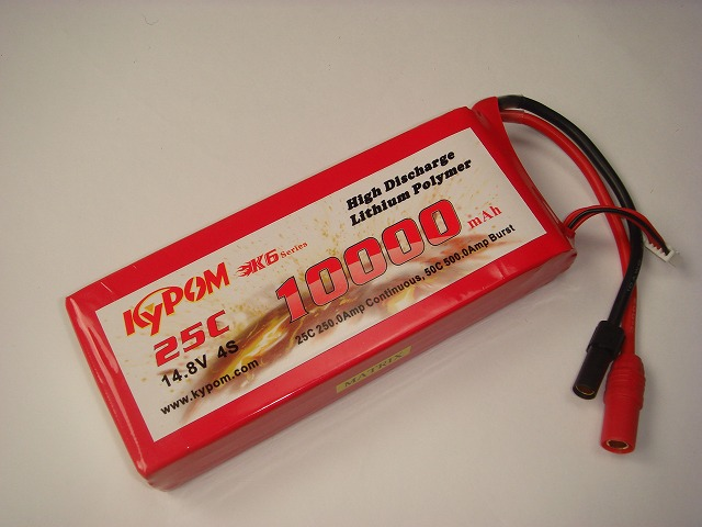 Lipo 4Sー10000mAh(25C)AS150/XT150コネクター付き
