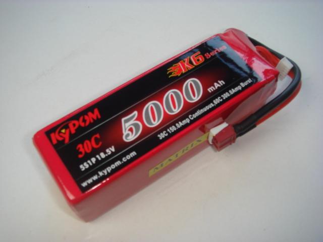 Lipo 5Sー5000mAh(30C)