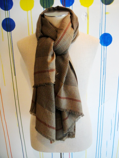 【SALE/セール/30%OFF】[送料無料]LOVAT&GREEN/H/TOOTH SCARF[59-132-0011]