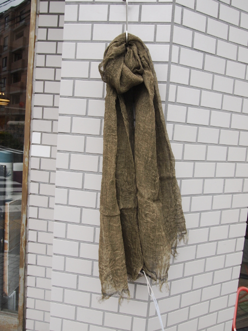 ≪New Arrival≫[送料無料]FORME D' EXPRESSION/CRISPY LINEN SCARF.  [38-171-0002]