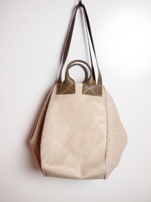 ≪New Arrival≫[送料無料]DelleCose/デレコーゼ/BAG LETHER + LINEN. [49-181-0006]