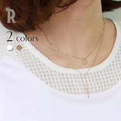 SALONMadeinJapanバーデザイン2連ネックレス(TS35NF-597/TS35NF-598)