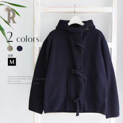 【特別価格】Buyer's select Made in Japan フロントベルトフーデッドニットジャケット(652-64001)▼