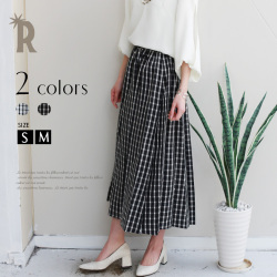 Sot Made in Japan ギンガムチェックフレアロングスカート(512-66511)【2017 S/S】▼
