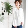 【特別価格】Buyer's select Made in Japan Vネックワイドスリーブコットン100%シャツ(652-65023)【2017 S/S】▼