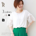 tricot tricot レーススリーブカットソー(602170)【2017 S/S】★メール便発送【送料100円】▼